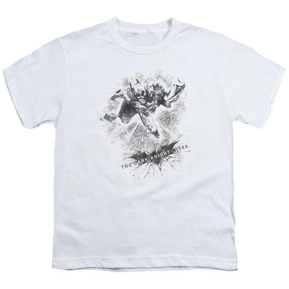 Dark Knight Rises Penciled Knight Short Sleeve Youth T-Shirt
