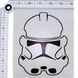 Star Wars Clone Helmet Black Decal