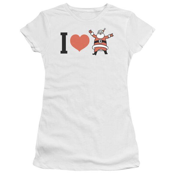 I Heart Santa Short Sleeve Junior Sheer T-Shirt