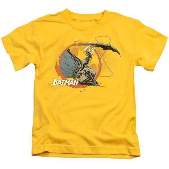 Batman Batarang Shot Short Sleeve Juvenile Yellow T-Shirt