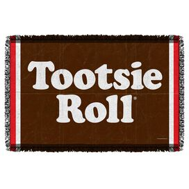 Tootsie Roll Wrapper Woven Throw