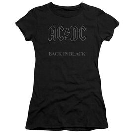 Acdc Back In Short Sleeve Junior Sheer T-Shirt