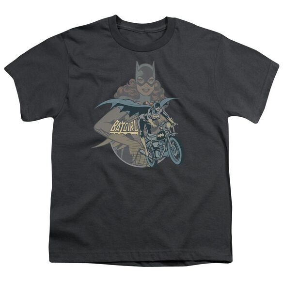 Dc Batgirl Biker Short Sleeve Youth T-Shirt