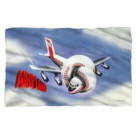 Airplane Postet Fleece Blanket
