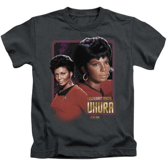 Star Trek Lieutenant Uhura Short Sleeve Juvenile Charcoal T-Shirt
