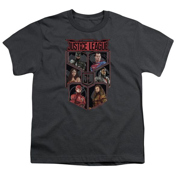Justice League Movie League Of Six Short Sleeve Youth T-Shirt
