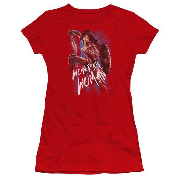 Wonder Woman Movie American Hero Hbo Short Sleeve Junior Sheer T-Shirt
