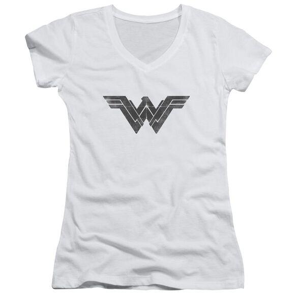 Batman V Superman Folded And Distressed Junior V Neck T-Shirt