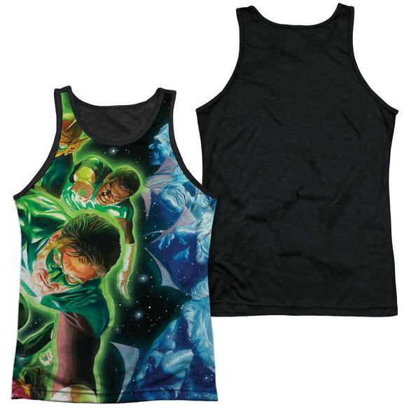 Green Lantern Guardians Adult Poly Tank Top Black Back