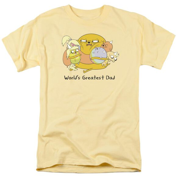 Adventure Time Worlds Greatest Dad Short Sleeve Adult Banana T-Shirt