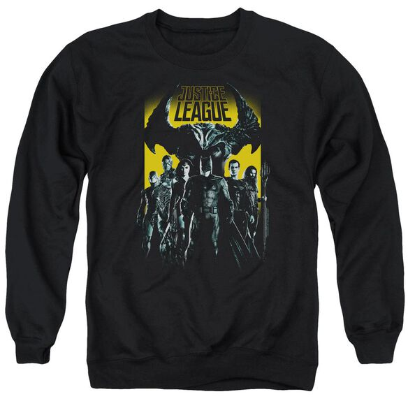 Justice League Movie Stand Up To Evil Adult Crewneck Sweatshirt