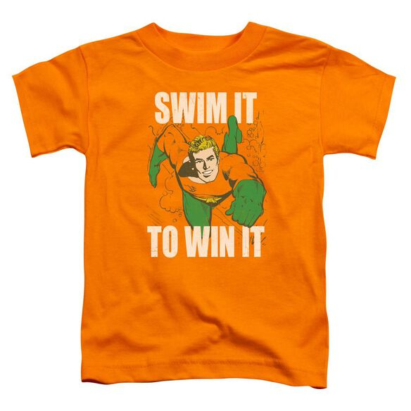 Dc Swim It Short Sleeve Toddler Tee Orange T-Shirt