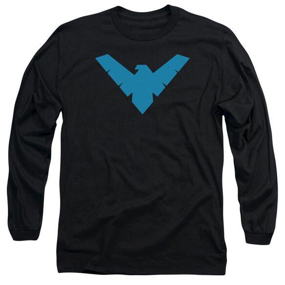 BATMAN NIGHTWING SYMBOL - L/S ADULT 18/1 - BLACK T-Shirt
