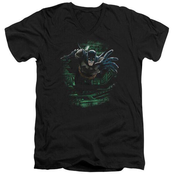BATMAN SURPRISE - S/S ADULT V-NECK - BLACK T-Shirt