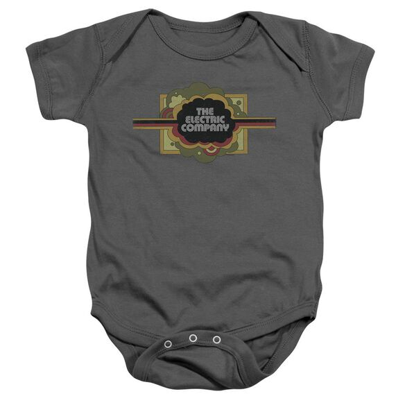 Electric Company Logo Infant Snapsuit Charcoal