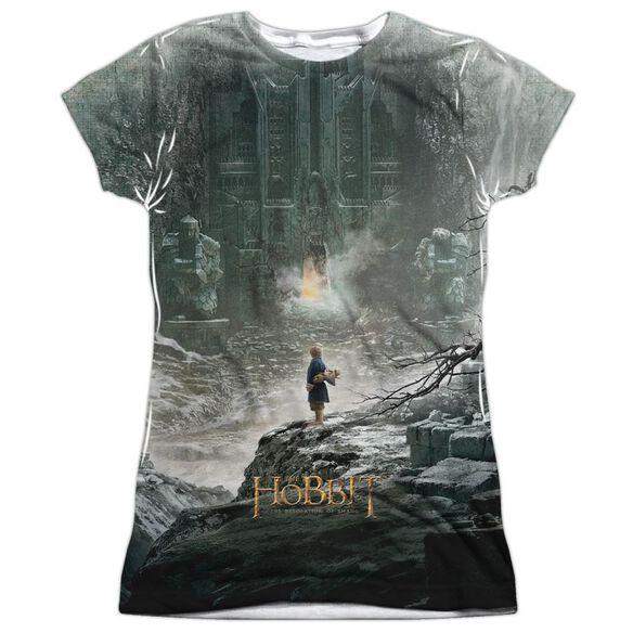 Hobbit Big Poster Short Sleeve Junior Poly Crew T-Shirt