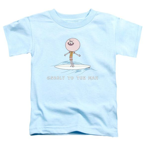 Regular Show Gnarly Short Sleeve Toddler Tee Light Blue T-Shirt