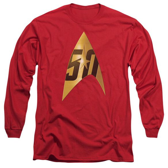 Star Trek 50 Th Anniversary Delta Long Sleeve Adult T-Shirt
