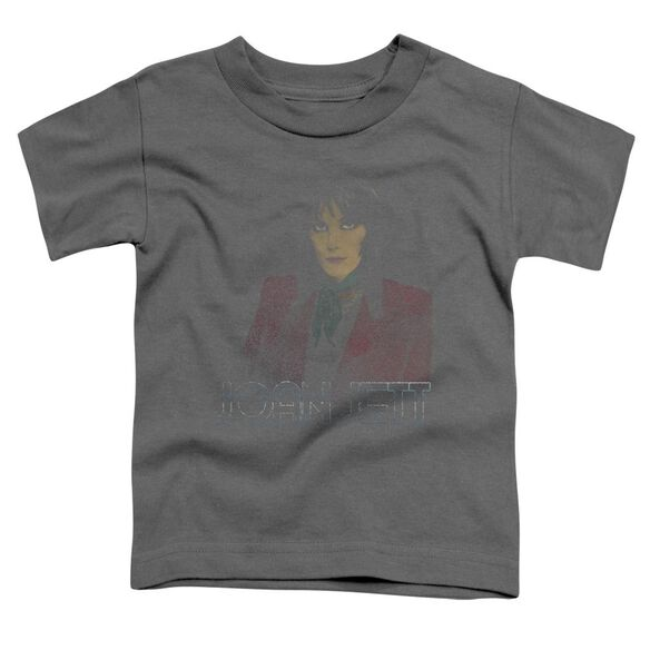 Joan Jett Worn Jett Short Sleeve Toddler Tee Charcoal T-Shirt