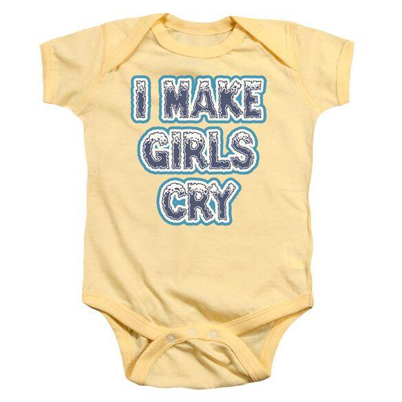 I Make Girls Cry Infant Snapsuit Banana Md