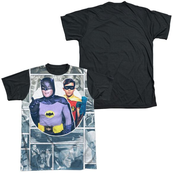 Batman Classic Tv 60 S Panels Short Sleeve Adult Front Black Back T-Shirt