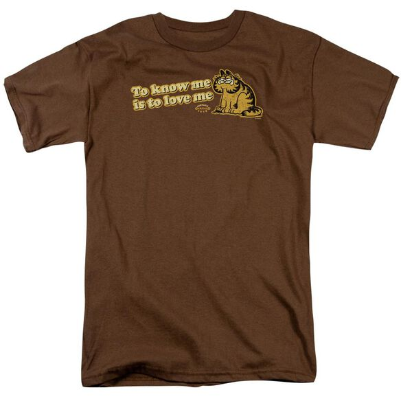 GARFIELD TO KNOW ME IS TO LOVE ME - S/S ADULT 18/1 - COFFEE T-Shirt