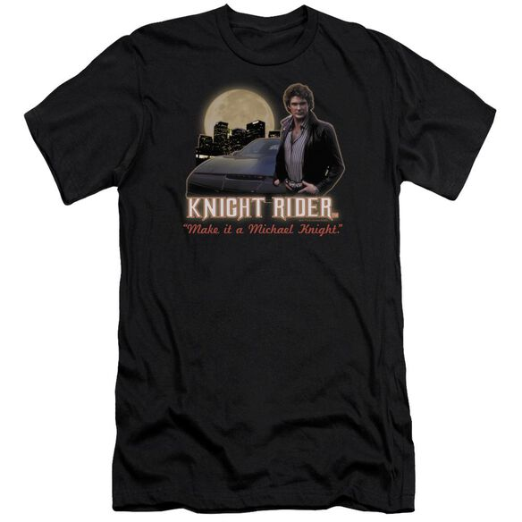 Knight Rider Full Moon Premuim Canvas Adult Slim Fit