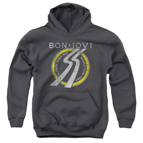 Bon Jovi Slippery When Wet World Tour Youth Pull Over Hoodie