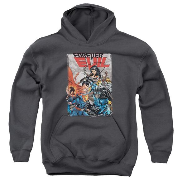 Jla Crime Syndicate Youth Pull Over Hoodie