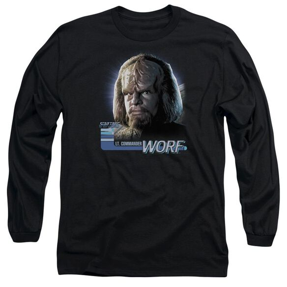 Star Trek Tng Worf Long Sleeve Adult T-Shirt