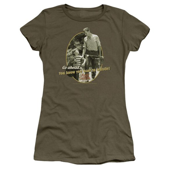 Andy Griffith Gone Fishing Short Sleeve Junior Sheer Military T-Shirt