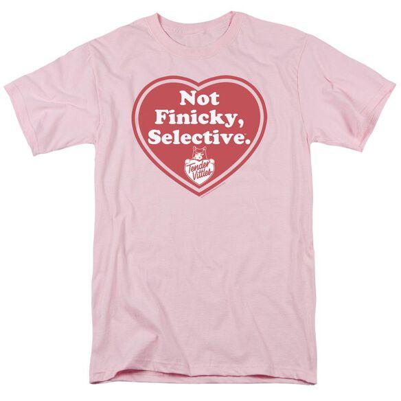 Tender Vittles Selective Short Sleeve Adult Pink T-Shirt