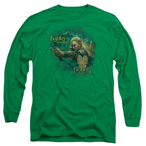 Hobbit Greenleaf Long Sleeve Adult Kelly T-Shirt