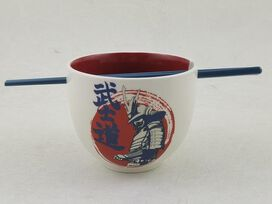 Samurai Ramen Bowl & Chopstick Set