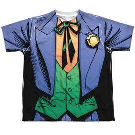 Batman Joker Uniform Short Sleeve Youth Poly Crew T-Shirt