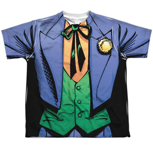Batman Joker Uniform Short Sleeve Youth Poly Crew T-Shirt