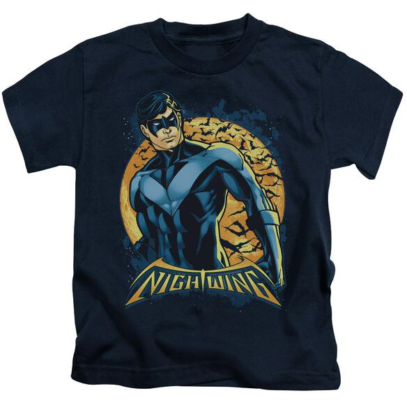 Batman Nightwing Moon Short Sleeve Juvenile Navy T-Shirt
