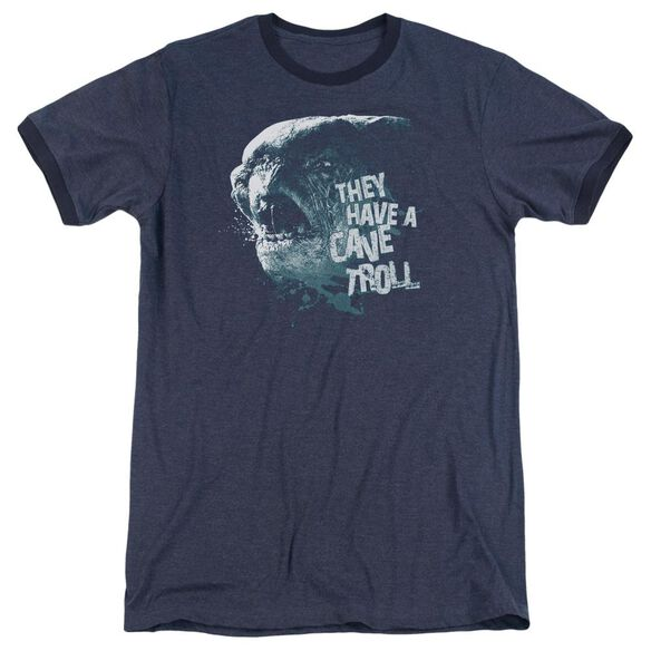 Lor Cave Troll Adult Heather Ringer Navy