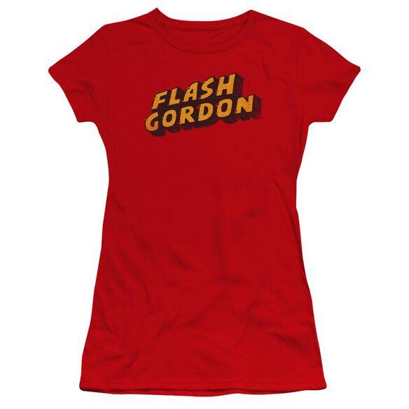 Flash Gordon Logo Premium Bella Junior Sheer Jersey