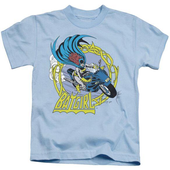 Dc Batgirl Motorcycle Short Sleeve Juvenile Light Blue T-Shirt