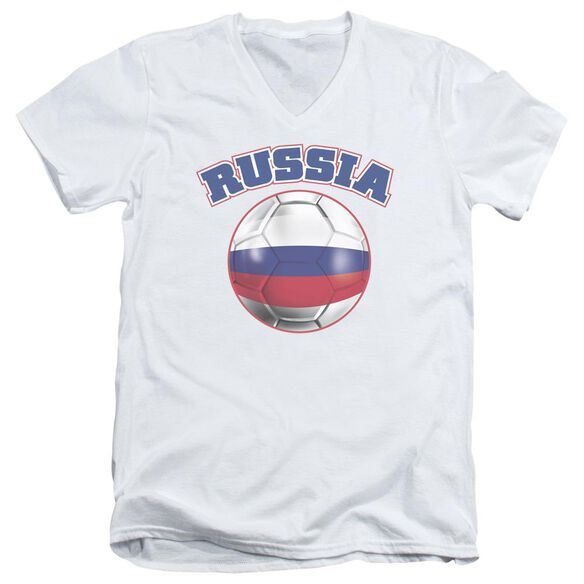Russia Short Sleeve Adult V Neck T-Shirt