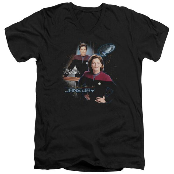 Star Trek Captain Janeway Short Sleeve Adult V Neck T-Shirt