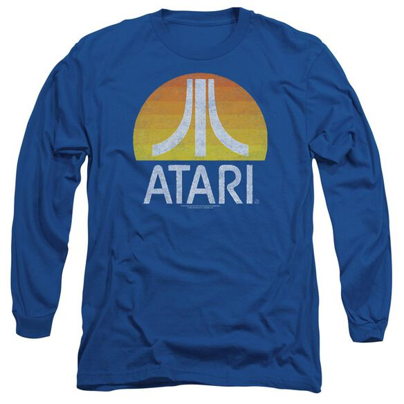 Atari Sunrise Eroded Long Sleeve Adult Royal T-Shirt