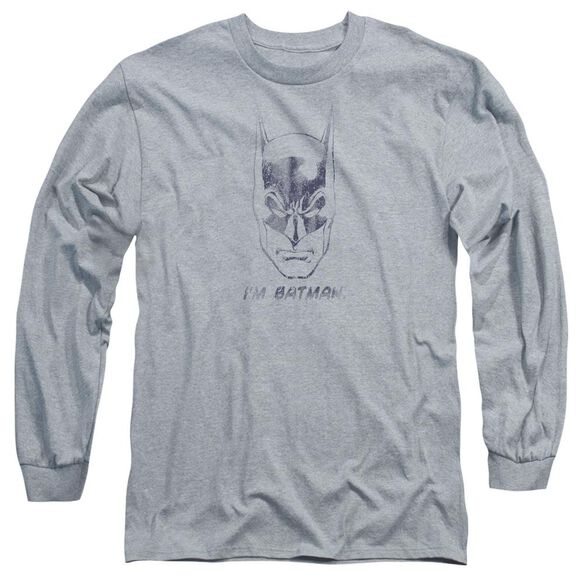 Batman I'm Batman Long Sleeve Adult Athletic T-Shirt
