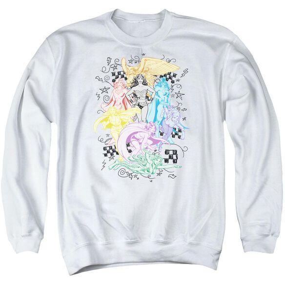 Dc Super Adult Crewneck Sweatshirt