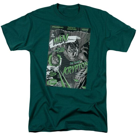 SUPERMAN THE MAN FROM KRYPTON - S/S ADULT 18/1 - HUNTER GREEN T-Shirt