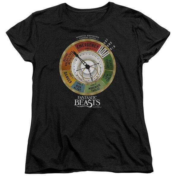 Fantastic Beasts Threat Gauge Short Sleeve Womens Tee Black T-Shirt