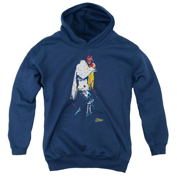 Elvis Yellow Scarf Youth Pull Over Hoodie