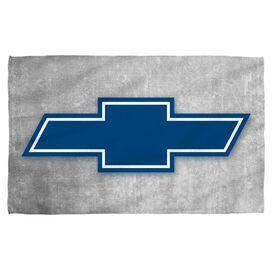 Chevrolet Simple Vintage Bowtie Towel White