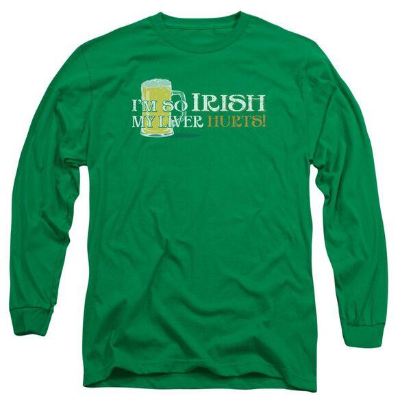 So Irish Long Sleeve Adult Kelly T-Shirt